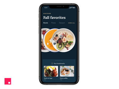 Fall Favorites — iOS App invision studio recipe food fall ux ui invisionstudio interaction transition invision design tools animation design