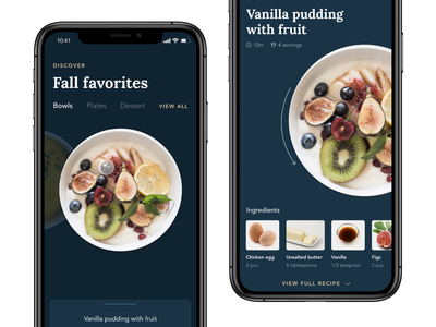 Fall Favorites — Animation Breakdown invision studio recipe recipe app fall ux ui invisionstudio interaction invision transition design tools animation design