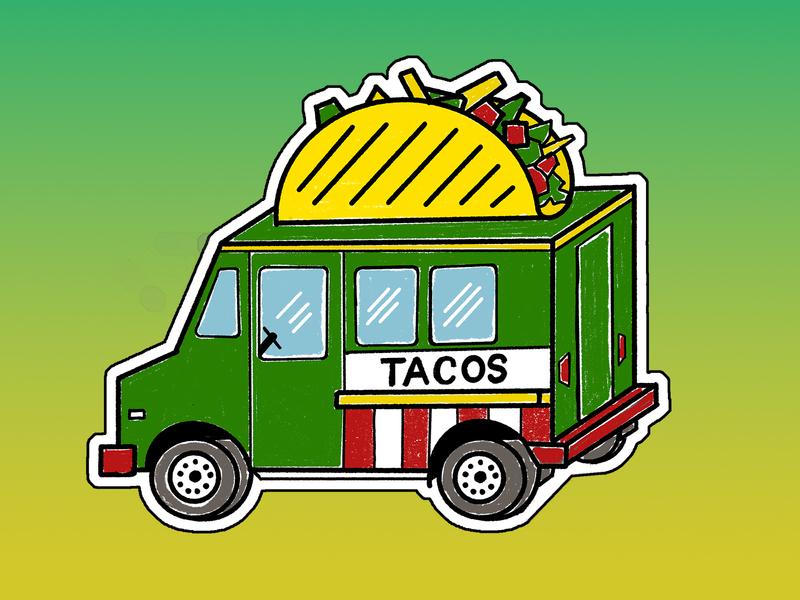 Taco Charm Design illustration ipad procreate