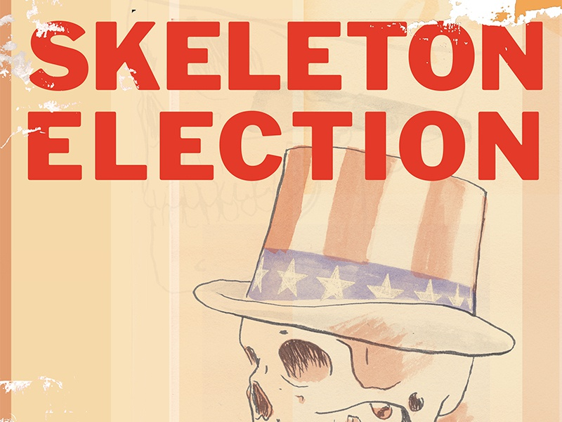 Skeleton Election Song Art photoshop ink illustration