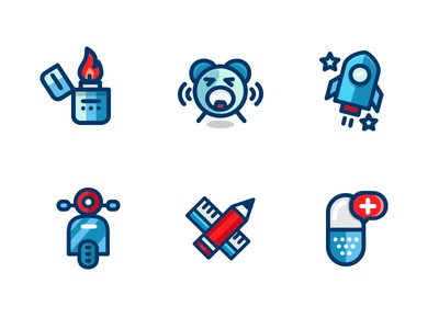 outline filled icons