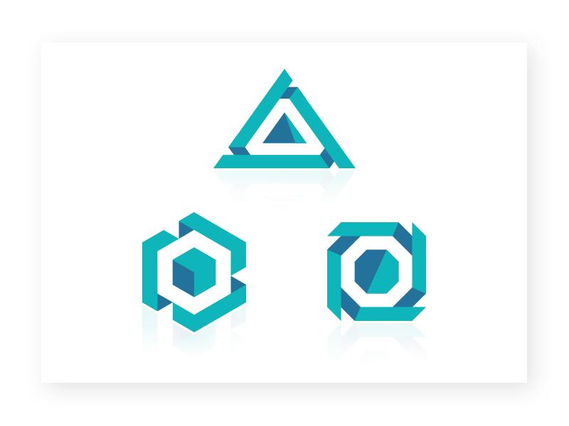 Harry luxton geometric logo icon design