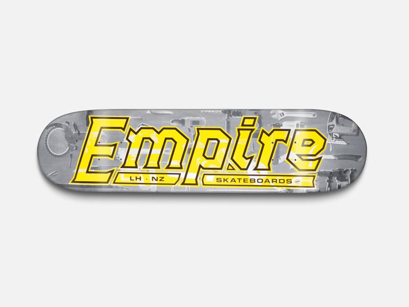 'Powertool' Skateboard For Empire Skate powertool typography graphic design skateboard