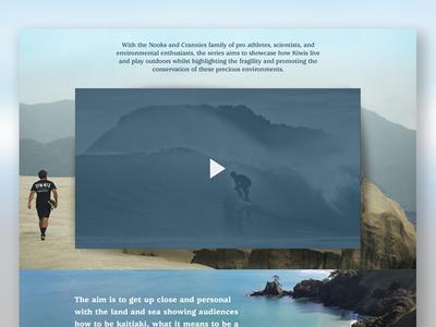 N&C Website excerpt. video skate surf design website