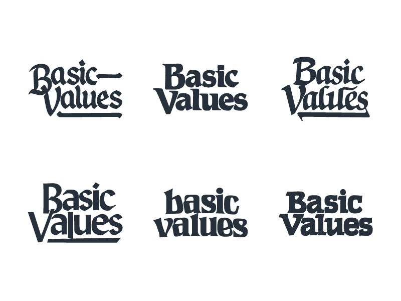 Harry luxton   basic values logo graphic design typography 01