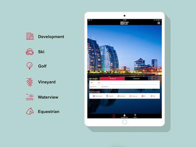 Knight Frank Lifestyle Icons ios app ui design icons