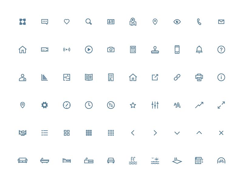 Knight Frank Icon Set ios digital web design design icons