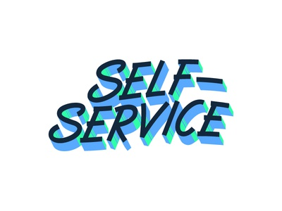 Self-Service service self signwriting vector typography