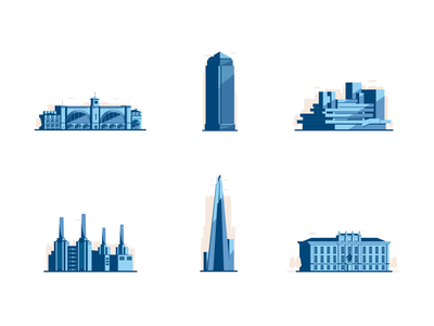 London Landmarks buildings london vector illustration