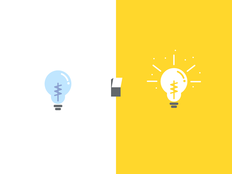Procrastination Lightbulb off on switch illustration vector lightbulb