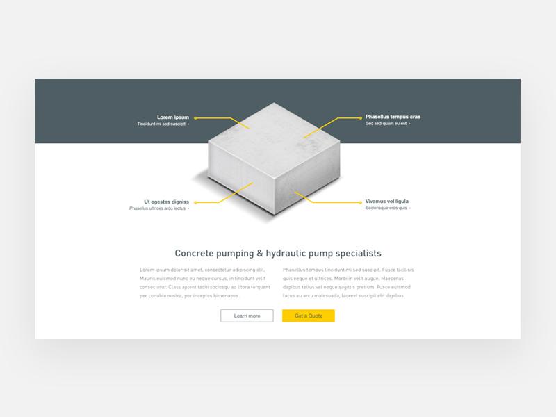 Harry luxton website design concept