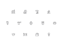 Medieval meets internet icons set