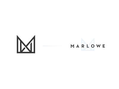 Marlowe Logo vector m logo design product bag baby marlowe