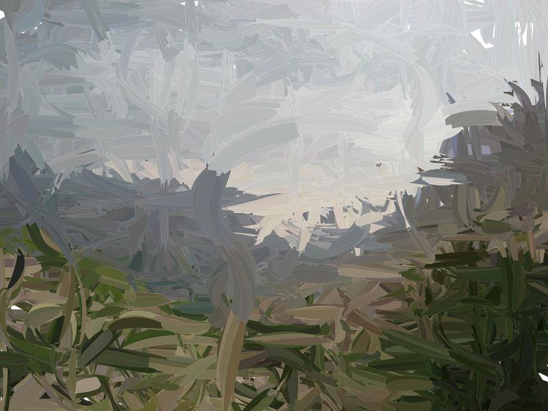 Landscape over paint java generated landscape