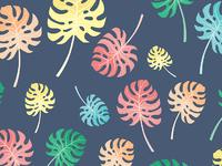 Leaves pattern wallpaper 01