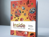 Inside: textbook mockup for National Geographic project