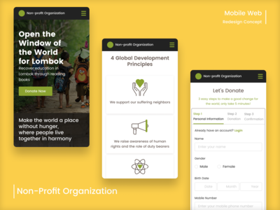 Non-Profit Organization Mobile Website