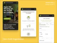 Non-Profit Organization Mobile Website