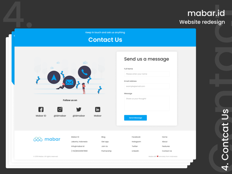 Contact Us Redesign redesign concept mabar redesign landing page website illustration design ui contact us contact page