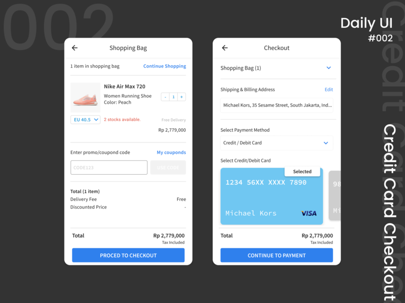 Credit Card Checkout daily ui credit card checkout mobile design ui