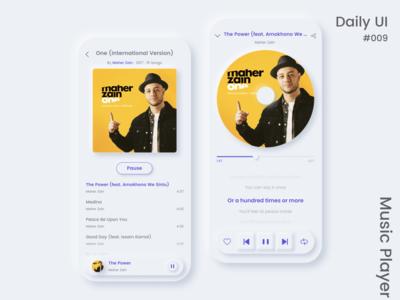Music Player playlist music music app music player daily ui mobile design ui