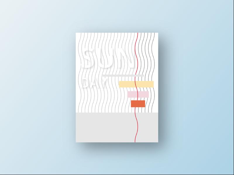 Day 52 illustration sunday geometric minimalism design graphic