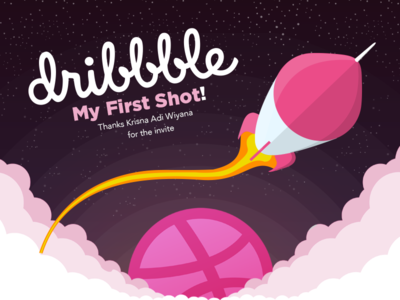 My first shot! paraguay spacial space launch invite dribbble first shot rocketship