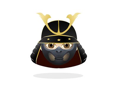 Samurai Emoji korea china asian ninja face war unicode emoji japan samurai
