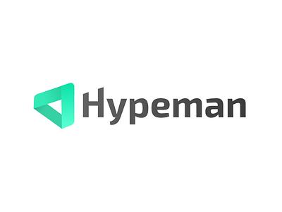Hypeman social media hypeman logo tech hype