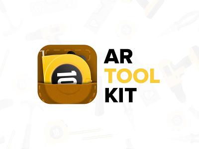 AR Toolkit logo icon app logo building construction ar tools arkit belt