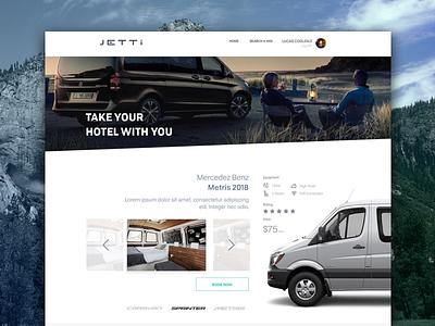 Jetti Camper Vans rental car hotel vans web ui campervans