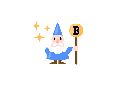 Crypto venture company crypto negative space doodle logo illustration mage blockchain wizard bitcoin