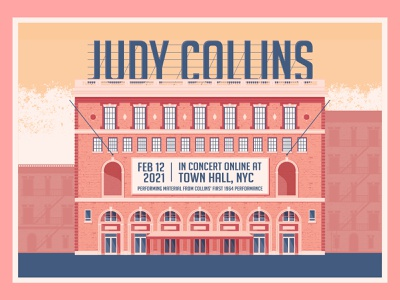 Judy Collins NYC newyork nyc art poster design gigposter graphic design colour vector illustration design