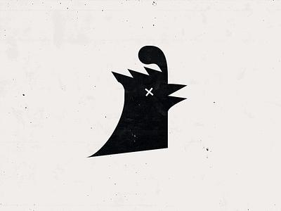 Cock of the north bird chicken cock silhouette mark graphic logo illustration design