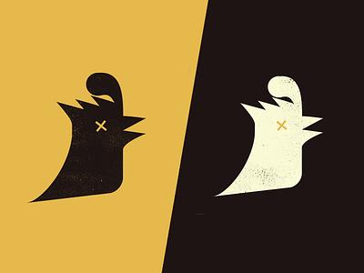 Chicken Little silhouette mark logo illustration graphic design cock chicken bird