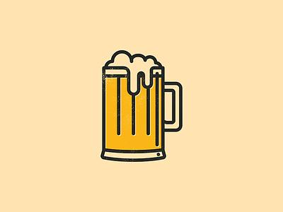 Beer Dribble texture line design illustration drink head stein glass beer