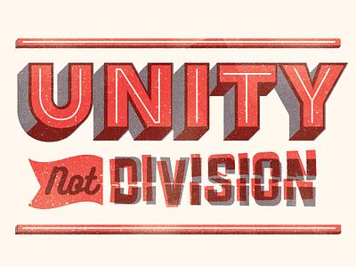 Unity vintage texture colour type typography design