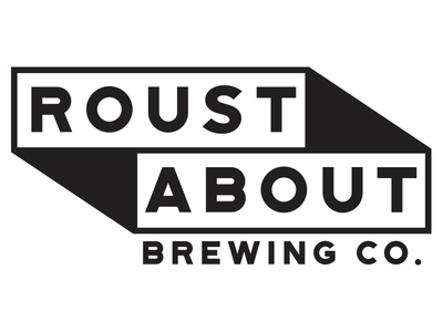 Roustabout brewery brewing beer type typography identity branding logo