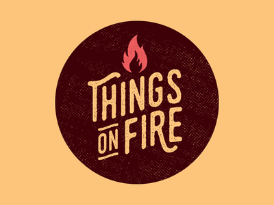 Stick it to 'em lettering type halftone sticker texture branding logo design