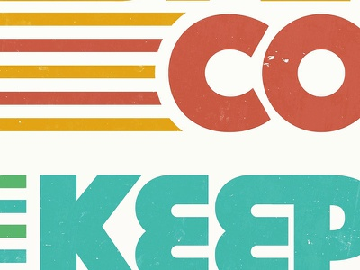 KeepCo work in progress thick lines throwback wip design type typography graphic colour texture retro