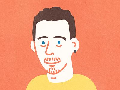 Self Portrait face portrait avatar vector colour texture illustration design