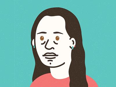 Katy face portrait avatar vector colour texture illustration design