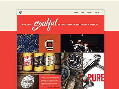 Soulsight Website agency packaging beer blue moon soulsight semplice portfolio design web