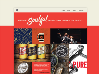 Soulsight Website agency packaging beer blue moon soulsight semplice portfolio design web