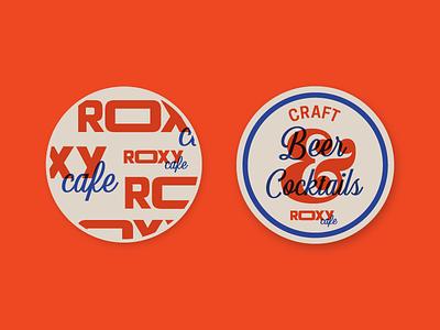 Coasters cafe restaurant ampersand branding typography coaster cocktails beer