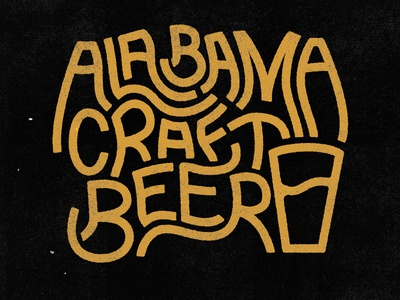 Alabama Craft Beer textures alabama drunk beer craft lettering typography