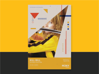 Kill Bill Double Feature theater film shapes branding movie poster kill bill