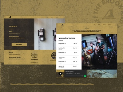 Band Website spotify digital branding web design website band music