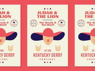 Kentucky Derby Gig Poster band minimal illustration badges typography music poster gig