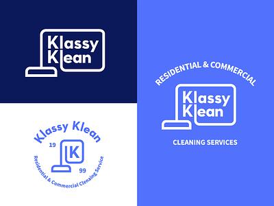 Cleaning Company Branding lock up branding logo vacuum icon cleaning typography custom type badge